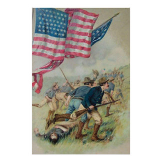 US Flag San Juan Hill Roosevelt Print