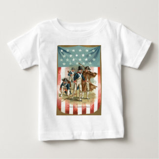 US Flag Shield Continental Army Baby T-Shirt