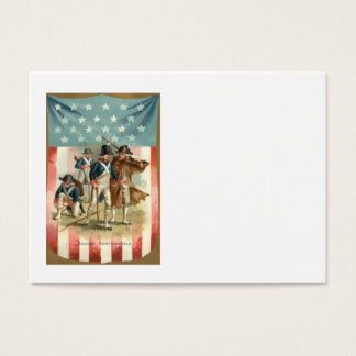US Flag Shield Continental Army Business Card
