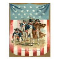 US Flag Shield Continental Army Post Cards