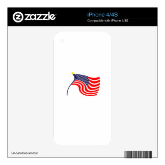 US Flag Decals For iPhone 4