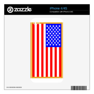 US Flag Skin For The iPhone 4