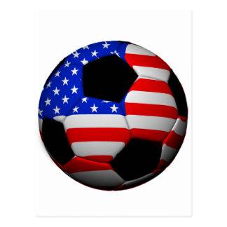 US Flag Soccer Ball Postcard