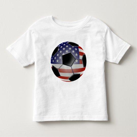 US Flag Soccer Ball Toddler T-shirt