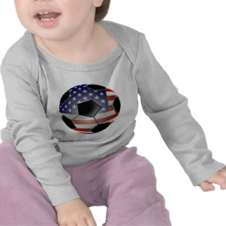 US Flag Soccer Ball T Shirts