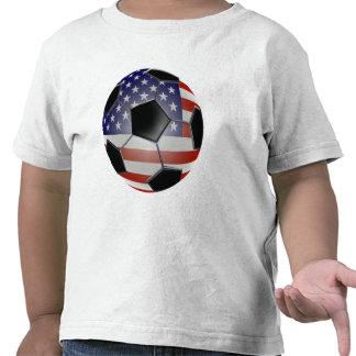 US Flag Soccer Ball Tshirts