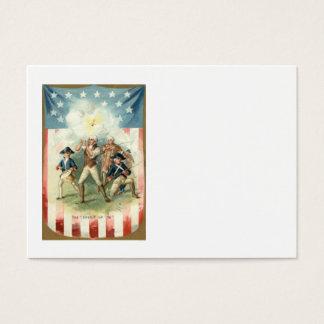 US Flag Spirit of 76 Soldier Drummer Boy Business Card