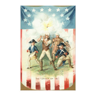US Flag Spirit of 76 Soldier Drummer Boy Canvas Print