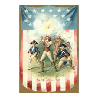 US Flag Spirit of 76 Soldier Drummer Boy Photo Print