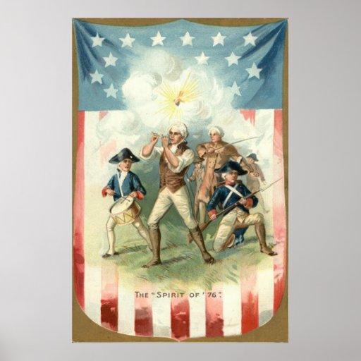 US Flag Spirit of 76 Soldier Drummer Boy Posters
