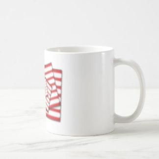 US Flag Stacked Diffused Coffee Mug