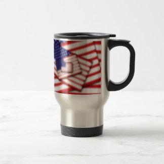 US Flag Stacked Diffused Travel Mug