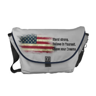US Flag. Stand strong, believe in yourself Messenger Bag