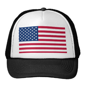 US Flag Stars and Stripes Trucker Hat