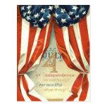 US Flag Stars & Stripes 4th of July Post Card