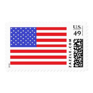 us FLAG STRAIGHT  POSTAGE