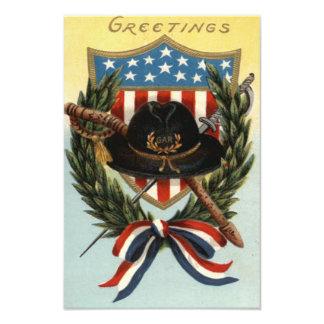 US Flag Sword Shield Wreath Photographic Print