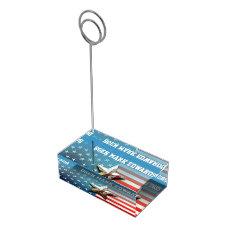 US Flag Table Card Holder
