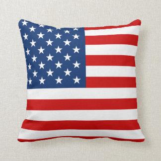 US Flag Throw Pillows