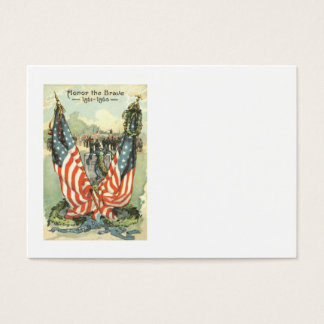 US Flag Tombstone Civil War Parade Business Card
