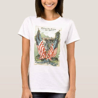 US Flag Tombstone Civil War Parade T-Shirt