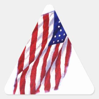 US Flag Triangle Sticker