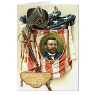 US Flag Ulysses S Grant Sword Cavalry Card