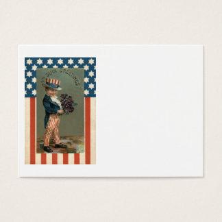 US Flag Uncle Sam Boy Violets Business Card