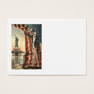 US Flag Uncle Sam Statue of Liberty Business Card