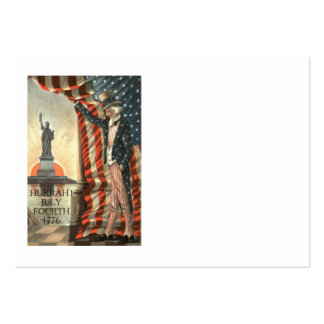 US Flag Uncle Sam Statue of Liberty Large Business Card