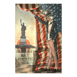 US Flag Uncle Sam Statue of Liberty Photo Print