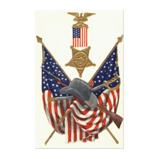 US Flag Union Civil War Medal Eagle Gallery Wrapped Canvas