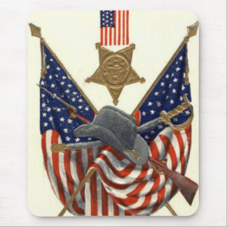 US Flag Union Civil War Medal Eagle Mouse Pad