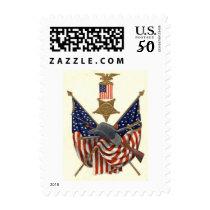 US Flag Union Civil War Medal Eagle Postage