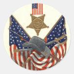 US Flag Union Civil War Medal Eagle Stickers
