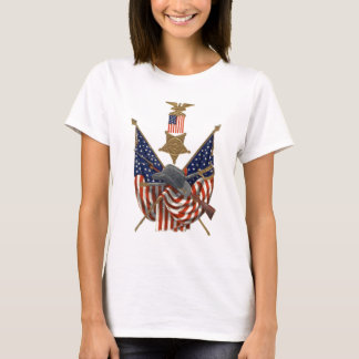 US Flag Union Civil War Medal Eagle T-Shirt