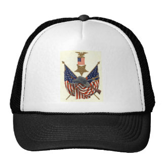 US Flag Union Civil War Medal Eagle Trucker Hat