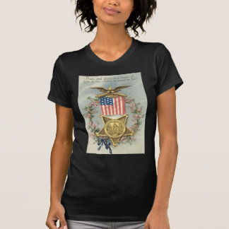 US Flag Union Civil War Medal Eagle Wreath T-Shirt