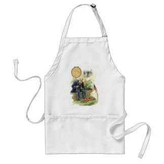 US Flag Union Soldier Cemetery Tombstone Adult Apron