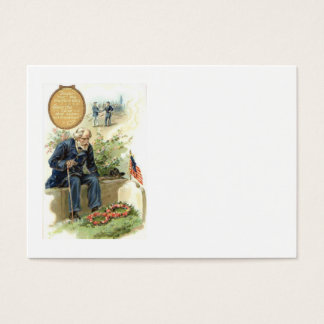 US Flag Union Soldier Cemetery Tombstone Business Card