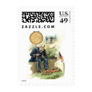 US Flag Union Soldier Cemetery Tombstone Postage Stamps