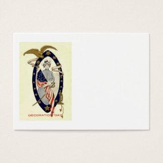 US Flag Union Soldier Eagle Trumpet Sword Business Card