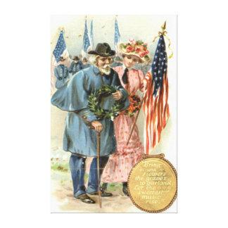 US Flag Union Soldier Veteran Wreath Canvas Print