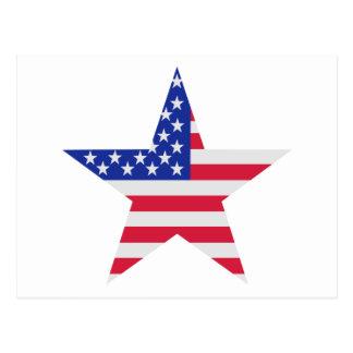 US flag United States Postcard