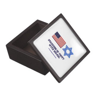 US Flag Unity with Israel Premium Trinket Boxes