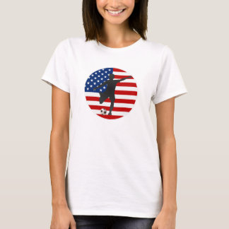 US Flag USA Women's Soccer T-shirt