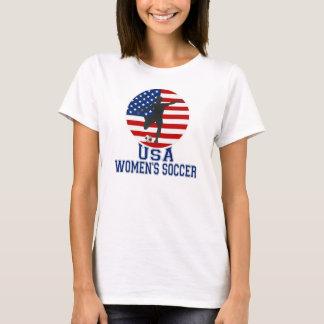 US Flag USA Women's Soccer T-shirt