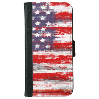 US flag, vintage style iPhone 6/6s Wallet Case