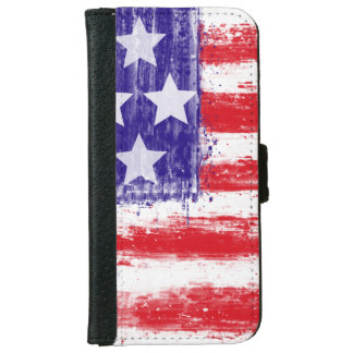 US flag, vintage style Wallet Phone Case For iPhone 6/6s