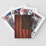 US Flag (vintage wood) Bicycle Card Decks